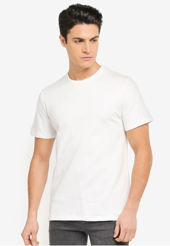ZALORA white Side Zip Embroidered Message Tee 32670AAEA8BC9AGS_1