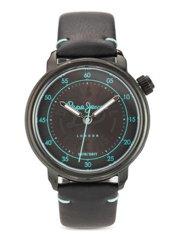 R2esprit 床上用品351117503 Sally 文字設計皮革女錶, 錶類, 飾品配件