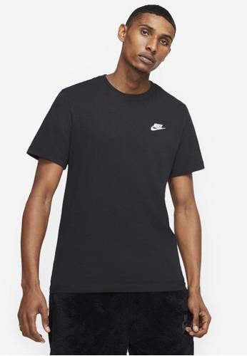 Nike black Men's Nike Sportswear Club T-Shirt 81EE5AAEDFF9AEGS_1