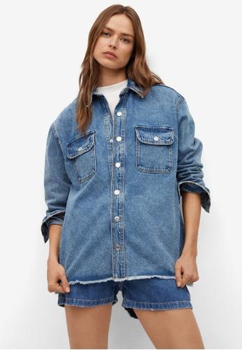 Mango blue Pocket Denim Overshirt 79674AA691313CGS_1