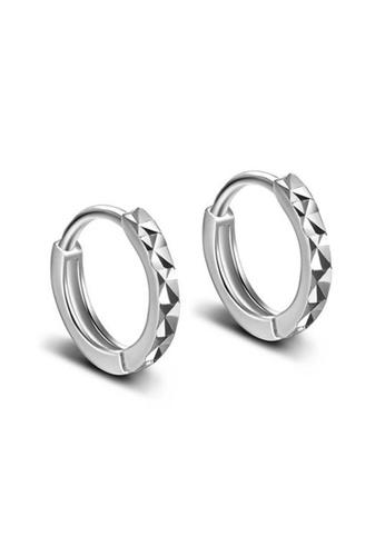 Elfi silver Elfi 925 Sterling Silver Hoop Earring SE-12M EL186AC41VZQMY_1