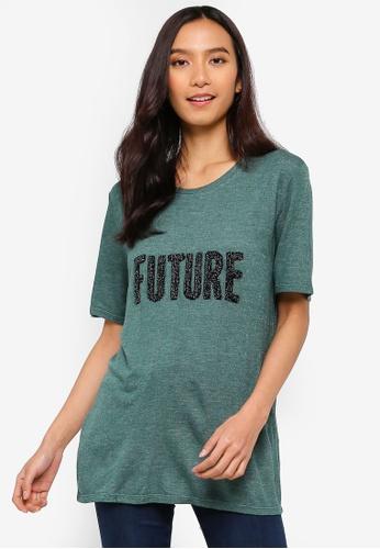 ICHI green Future Short Sleeve T-Shirt 905ECAACF4E72DGS_1