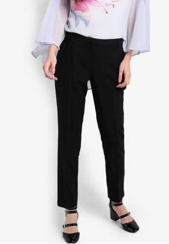 Dorothy Perkins black Regular Length Black Poly Straight Trousers DO816AA34NGBMY_1