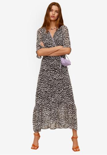 Mango black Print Wrap Dress 668AFAA19C2711GS_1