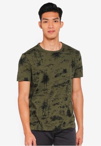 Banana Republic green Soft Wash Forest Print T-Shirt 58D9AAA95CFE58GS_1