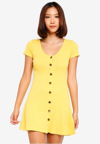 0c748a5102da Buy Hollister Short Sleeve Knit Button Dress Online on ZALORA Singapore