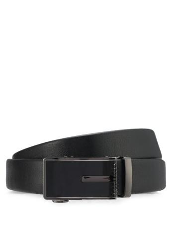 UniqTee black Classic Genuine Leather Belt UN097AC0SYSIMY_1
