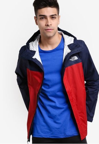 The North Face red and navy Venture 2 Jacket TH274AA60IEHMY_1