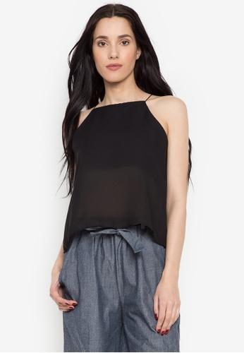 Fablook Clothing black Halter Cami 649EEAA35EC60BGS_1