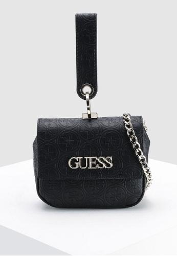 Guess black Heritage Pop Mini Crossbody Flap Bag CBB89AC63592F3GS 1 e8b9b47e97233