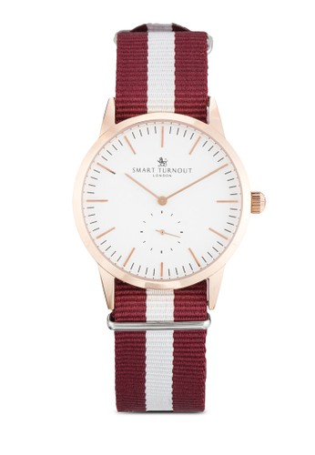 Signature Hzalora 評價arvard  條紋織帶錶帶手錶, 錶類, 飾品配件