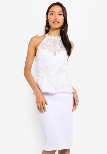 Lipsy white Embellished Lace Dress 0FD5DAA75697A2GS_1