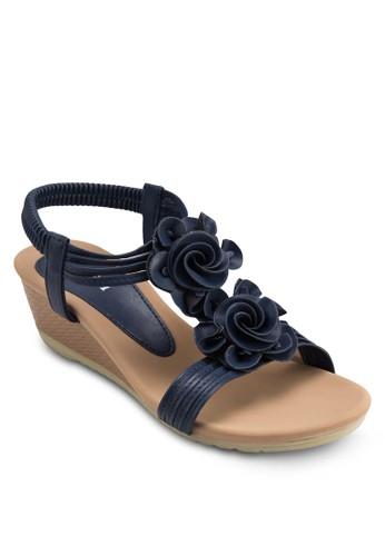 花飾踝esprit衣服目錄帶楔形涼鞋, 女鞋, 楔形涼鞋