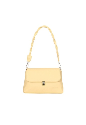 Verchini yellow Verchini Twist Top Handle Bag 8AB46ACDF2603CGS_1