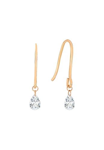 Khoe pink Khoe 18K Rose Gold Diamond Earring BC536AC073E5BFGS_1