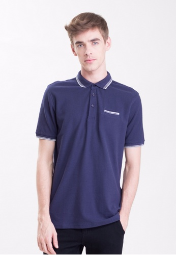 Drum Casual Polo with Pocket details -NBL DR425AA0RSS2MY_1