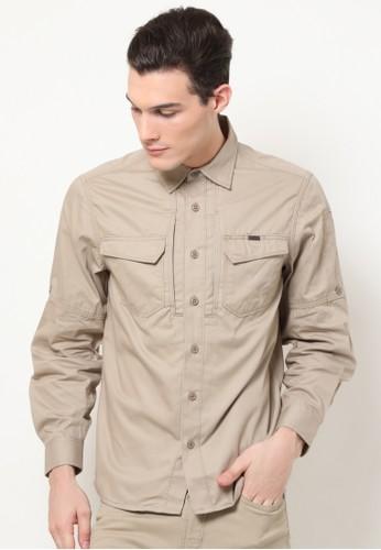 MGEE brown MGEE Outdoor Shirt A0959AA85AC820GS_1