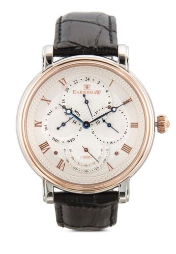 Lozalora 心得ngcase 大日曆圓框真皮手錶, 錶類, 飾品配件