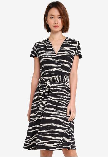 OVS multi Woven Printed Dress B709DAA8A47DB3GS_1