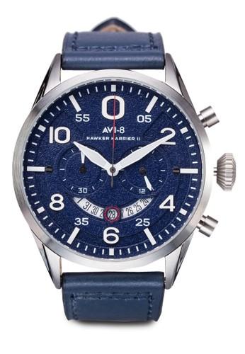 Hawkesprit地址er Harrier II 皮革大圓錶, 錶類, 錶類