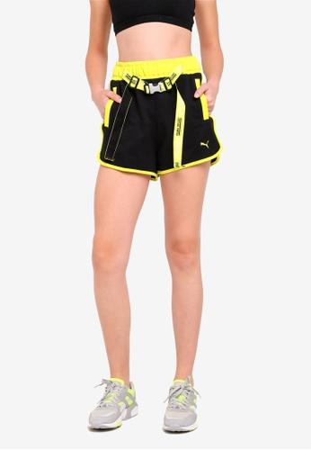 PUMA black Sportstyle Prime Xtreme Tape Highwaist Shorts EA479AAE09654FGS_1