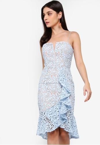 JARLO LONDON blue Jade Dress 1F72FAACEEB774GS_1