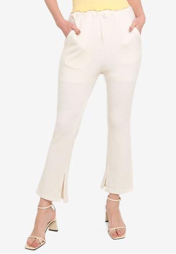 JEANASIS white Flare Bottom Pants F4ECEAA53A2CD4GS_1