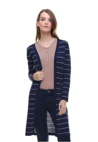 LGS blue LGS - Sweater Wanita - Model Dress - Motif Salur - Biru  36FA9AA328B04CGS 1 b204a63523