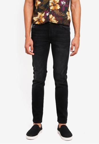 MANGO Man grey Slim-Fit Black Tim Jeans D90D3AA91EDF3EGS_1