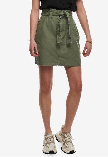 ONLY green Elma Belted Skirt 3BBBCAADF51F0EGS_1