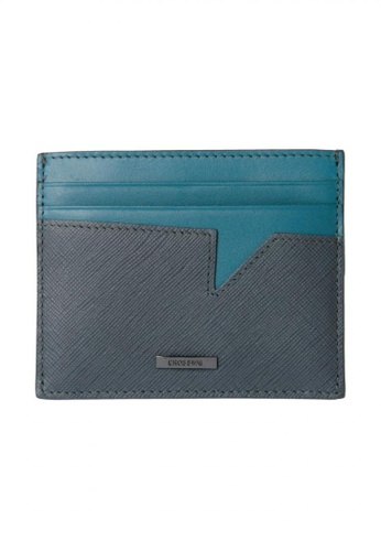 87aeb6bcaaf5 CROSSING grey Crossing Saffiano Transition Coin Pouch With Card Case - Iron  Grey/Shaded Spruce