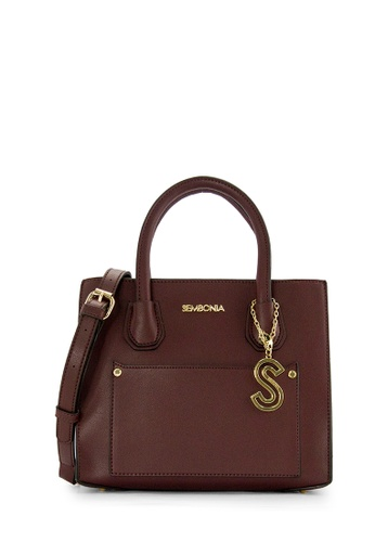 SEMBONIA red SEMBONIA Synthetic Leather Satchel Bag (Maroon) FC8E3ACC11EAD3GS_1