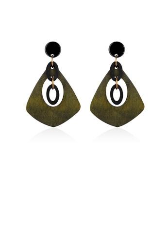 Glamorousky silver Personalized Green Earrings 428C8ACA755FB0GS_1