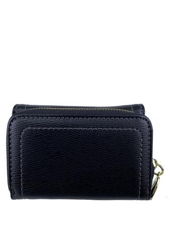 Mel&Co black Faux Leather Mid-Size Wallet 49A16ACE41DFF9GS_1