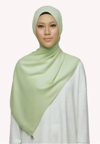 De Leuca green De Leuca Jovie Shawl - Lime 6688BAC45DD87BGS_1