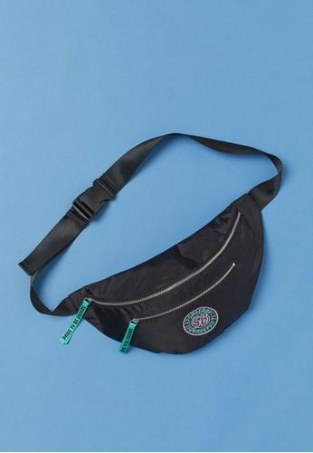 H&M black Printed Waist/Shoulder Bag F413DAC6C0AEEAGS_1