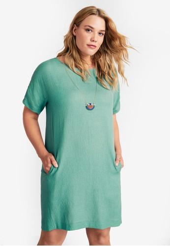 Violeta by MANGO green Plus Size Detachable Necklace Dress E9164AA540A8C3GS_1