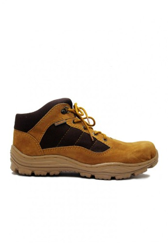 Cut Engineer brown Cut Engineer Zipper Taktical Low Safety Boots Iron Leather Tan CU226SH61HFAID_1