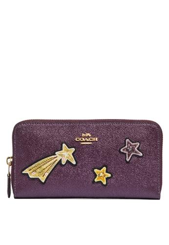 Coach purple Accordion Zip Wallet (cv) 858AEACF61D5B2GS_1