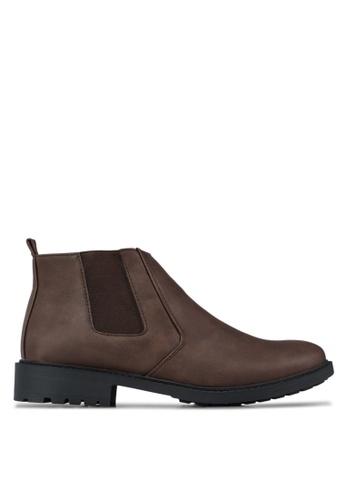 Albertini brown Hi-Top Boots AL779SH38DXTMY_1
