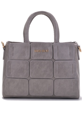 Vince grey European Designed Luxury Vegan Leather Tote ( Grey ) VI456AC95VFOMY_1