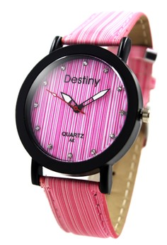 Destiny Lina Leather Strap Watch AK