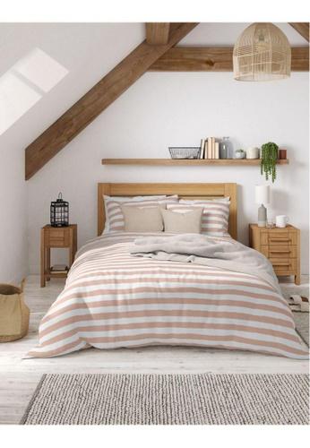 MARKS & SPENCER pink M&S 2 Pack Cotton Mix Striped Bedding Sets (Single) 1D9E9HL22859C8GS_1