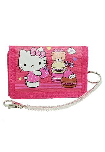 Hello Kitty pink Hello Kitty Tri Fold Wallet E08BBKC627C125GS_1