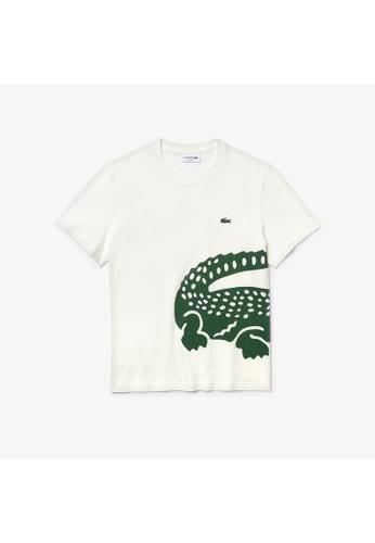 Lacoste Lacoste Men's Oversized Crocodile Print Crew Neck T-shirt 0E6E2AAB7EF051GS_1