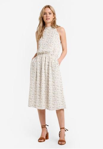 Something Borrowed white Crossed Back Midi Dress D3C12AACCFBB6FGS_1