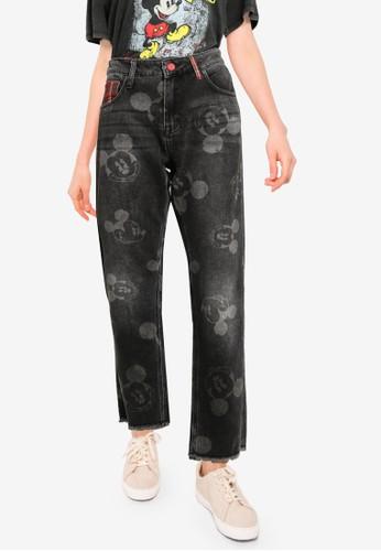 Desigual black Mickey Mouse Boyfriend Jeans 5E5FEAA83691CAGS_1