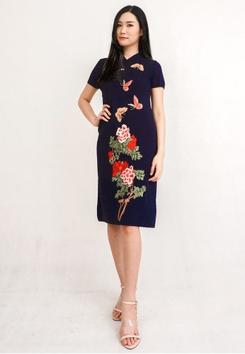 ESYE navy Aster Knit Dress Navy B594AAA8843946GS_1