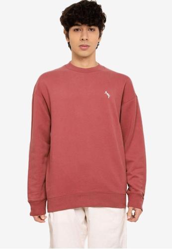 Abercrombie & Fitch pink Monogram Mock Crew Sweatshirt C4646AABC8A722GS_1
