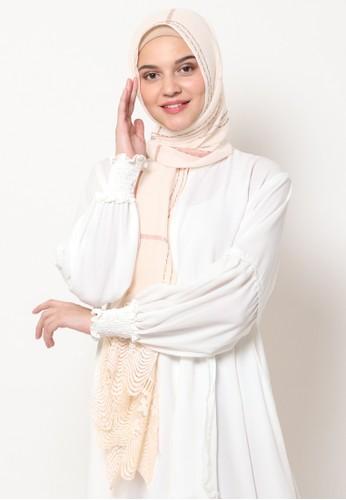 KASHKHA beige Pashmina Scarf Cotton Lace on Taraf by Kashkha / A18SHCASFCKGR3000-Beige 16C3CAA41AC216GS_1
